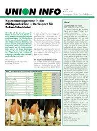 Kostenmanagement in der Milchproduktion – Denksport für ...