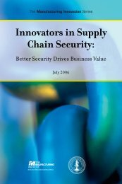 Innovators in Supply Chain Security: - IBM