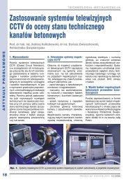 astosowanie systemów telewizyjnych CCTV do oceny stanu ...