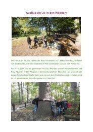 Ausflug der 2c in den Wildpark