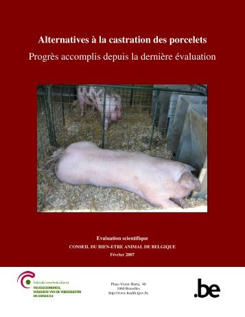 Alternatives à la castration des porcelets - Alternatives to surgical ...