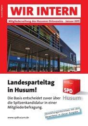 WIR INTERN Jan 11.indd - SPD Ortsverein Husum