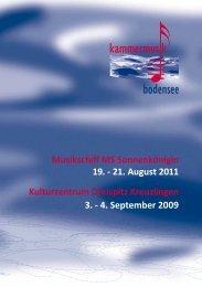 Programm - Kammermusik Bodensee