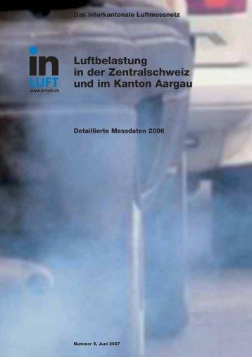 Luftbelastung in der Zentralschweiz und im Kanton Aargau - Luft-in.ch