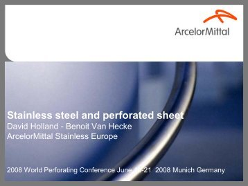 Stainless steel & perforated sheet - Europerf
