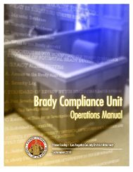 Brady Compliance Unit Operations Manual - Los Angeles County ...