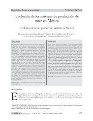 Evolucion de los sistemas de producción de nuez en México