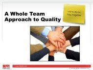 A Whole Team Approach to Quality - Rally Software