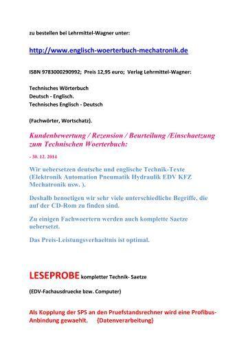 Deutsch englisch uebersetzungen woerterbuch fuer for Ubersetzung englisch deutsch text