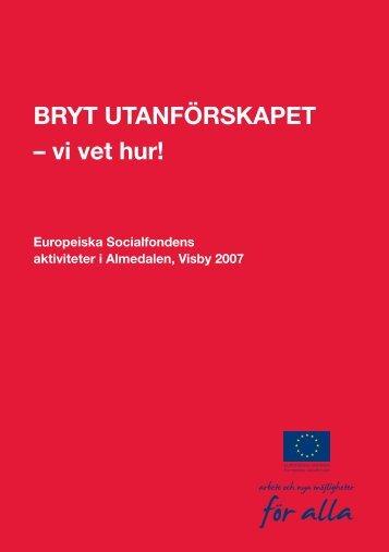 Ladda ner program med Europeiska Socialfondens övriga aktiviteter ...