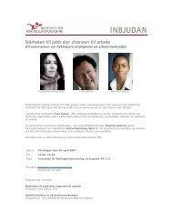Inbjudan - Tema asyl & integration