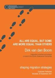 Dirk van den Boom - Shaping Migration Strategies