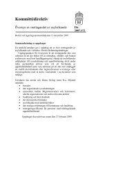 Kommittédirektiv - Tema asyl & integration