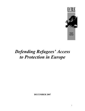 Refugees' Access to Protection in Europe, Executive Summary