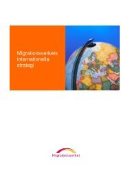 Migrationsverkets internationella strategi - Tema asyl & integration