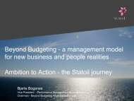 Beyond Budgeting - a management model for new business and ...