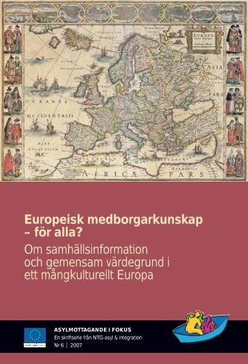 Europeisk medborgarkunskap - Tema asyl & integration