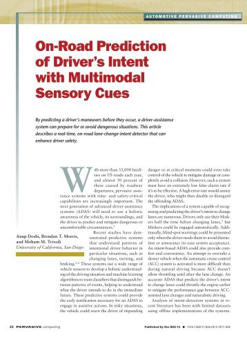 on-road Prediction of Driver's intent with multimodal ... - IEEE Xplore