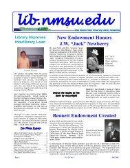 New Endowment Honors J.W.