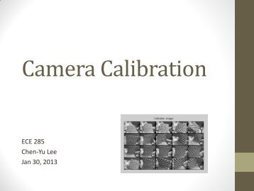 Camera Calibration - Computer Vision and Robotics Research