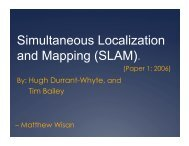 Simultaneous Localization and Mapping (SLAM).