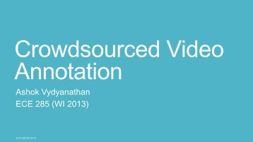 Crowdsourced Video Annotation - Computer Vision and Robotics ...