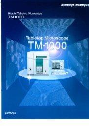 Hitachi TM-1000 Instructions Manual