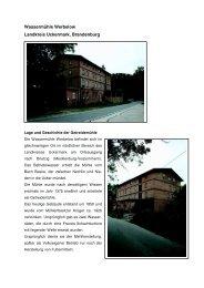 Details zur Wassermühle (pdf) - Wassermühle Werbelow