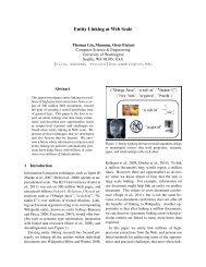 Entity Linking at Web Scale - University of Washington