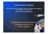 Centre Scolaire du Sacré-Coeur Boulevard Audent ... - AEF Europe