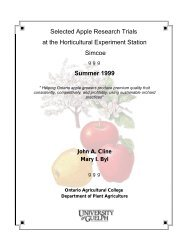 Selected Apple Research Trials PDF - Plant Agriculture - University ...