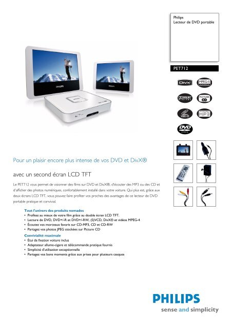 Pet71212 Philips Lecteur De Dvd Portable Conforama
