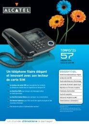 Un téléphone filaire élégant et innovant avec son ... - Conforama