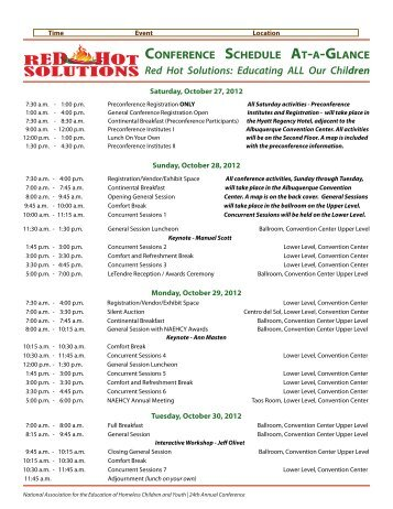 Tentative Conference Schedule At-a-Glance - National Association ...