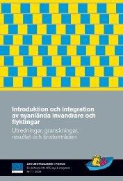 Introduktion och integration av nyanlända invandrare och flyktingar