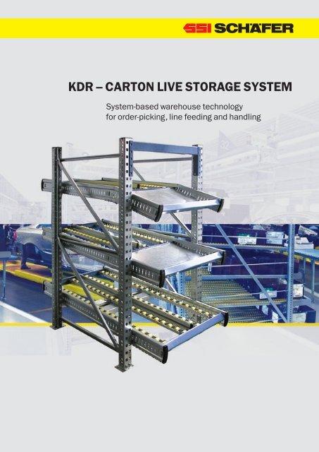 KDR – CaRTon LIvE SToRaGE SySTEM - SSI Schäfer