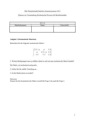 Aufgabe 1 (Likelihoodfunktion)