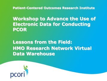 HMORN - Patient Centered Outcomes Research Institute