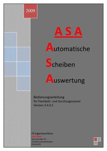 ASA ist eine Software, die es gestattet Schießscheiben mithilfe eines ...