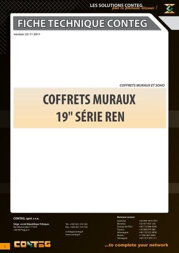 """COFFRETS MURAUX 19"""" SÉRIE REN - Conteg"""