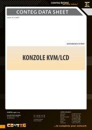 KONZOLE KVM/LCD - Conteg