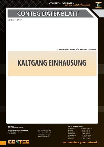 KALTGANG EINHAUSUNG - Conteg