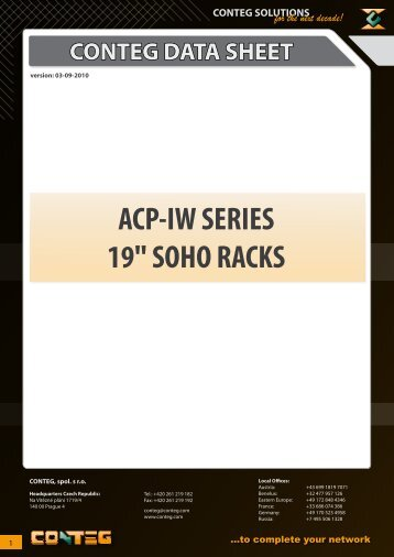 "ACP-IW SERIES 19"" SOHO RACKS - Conteg"