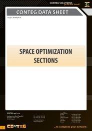 SPACE OPTIMIZATION SECTIONS - Conteg