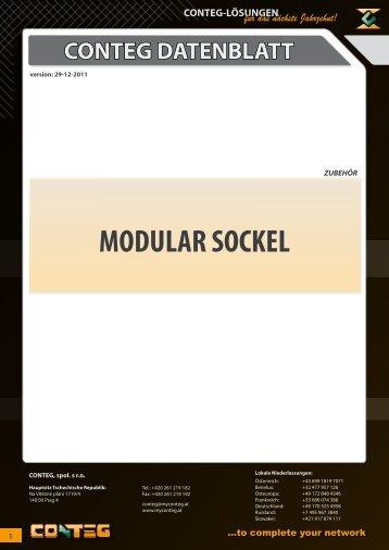 MODULAR SOCKEL - Conteg