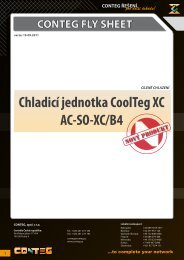 CONTEG FLY SHEET Chladicí jednotka CoolTeg XC AC‑SO‑XC/B4
