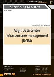 Aegis Data center infrastructure management (DCIM) - Conteg