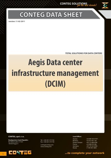 Aegis Data center infrastructure management (DCIM) - Conteg