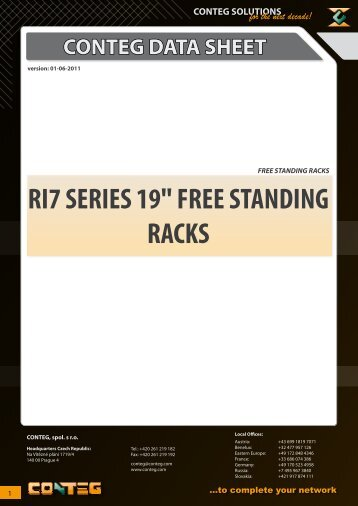 "conteg data sheet ri7 series 19"" free standing racks"