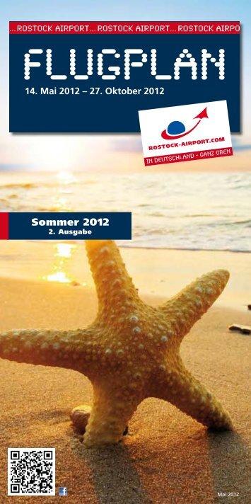 Sommerflugplan 2012 - Flughafen Rostock-Laage